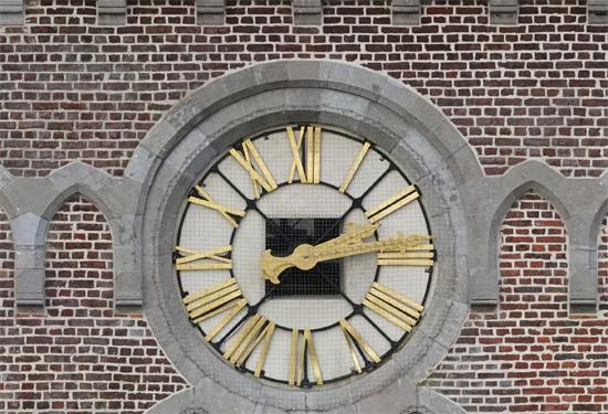 Orthofoto van de gevel van een kerk