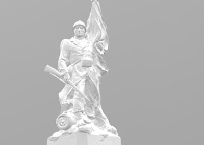 3D modellering van een standbeeld