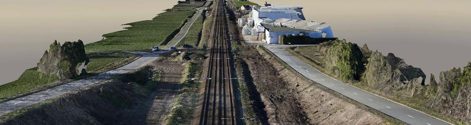 3D model van 10km spoorweg – Artikel in de Bouwkroniek