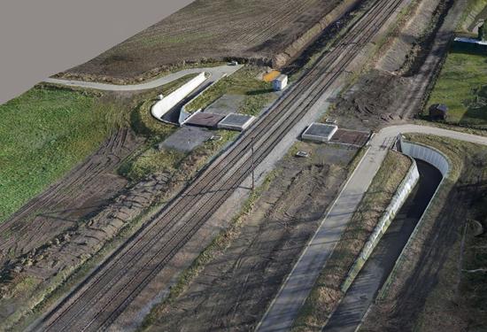 3D model van een spoorweg