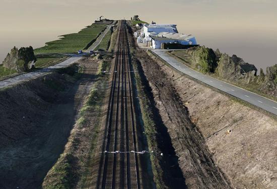 3D model van spoorweg