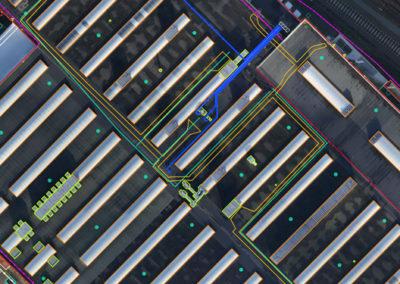 Opmeting van bedrijfsterrein en gebouwen